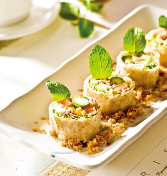 《九陽上菜》豆渣優格沙拉捲