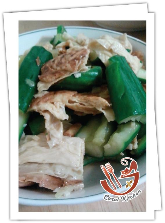 凱洛廚房  涼拌豆皮小黃瓜