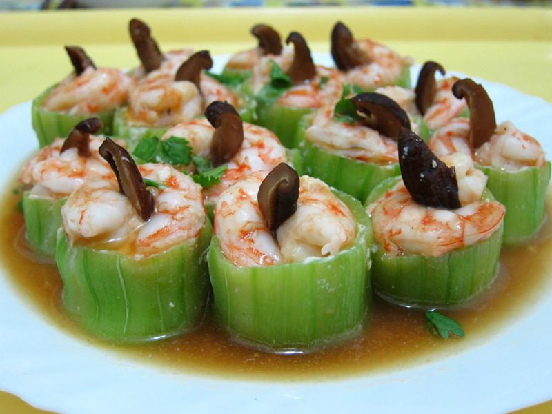 絲瓜盅鑲海鮮