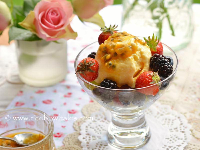 自家製芒果酸奶冰淇淋