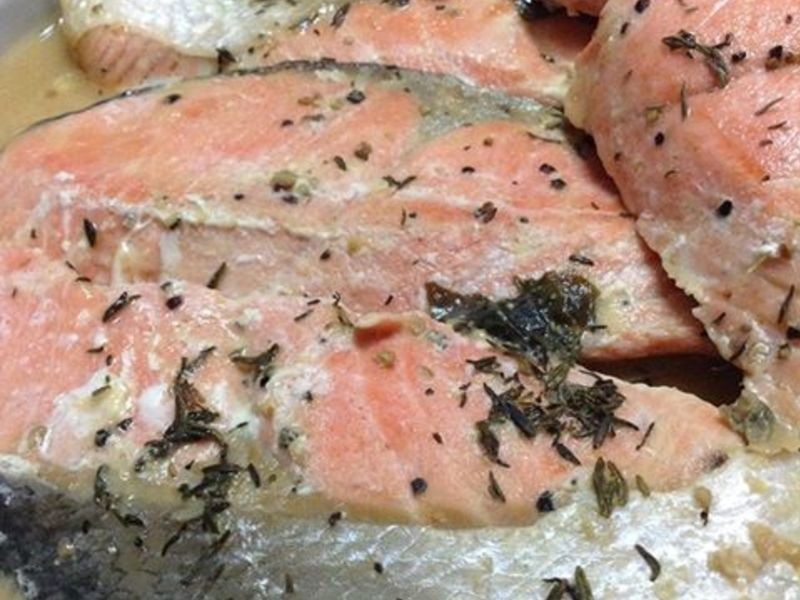 白酒味增鮭魚