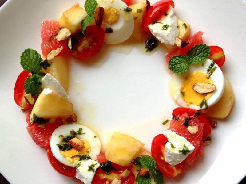 繽紛花環水果沙拉