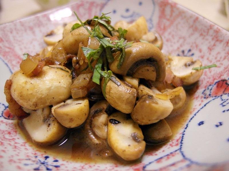 培根洋蔥炒蘑菇