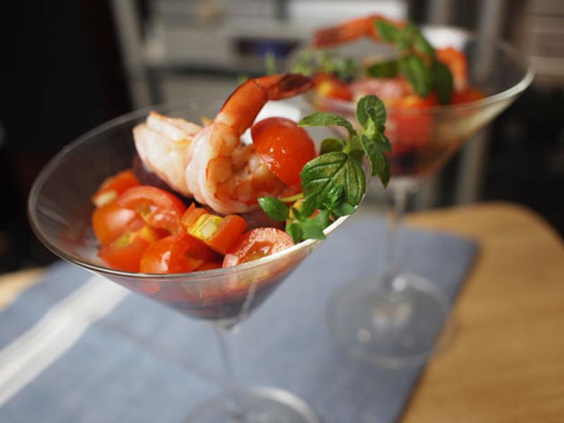 鮮蝦番茄cocktail