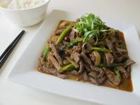 蘆筍炒牛肉絲 {Beef with Asparagus}