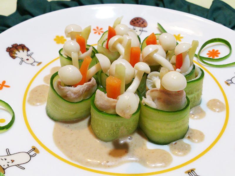 瓜脆肉鮮菇菇捲~莎媽五心級料理