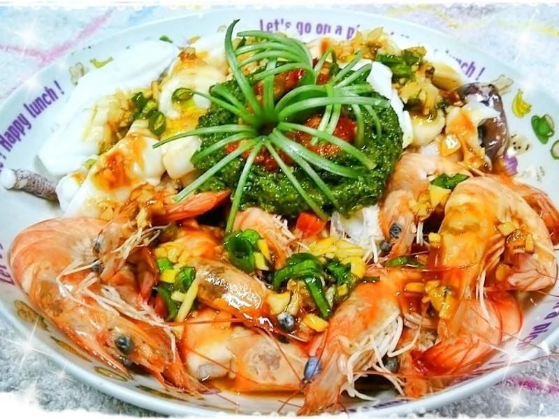 青醬辣拌海鮮