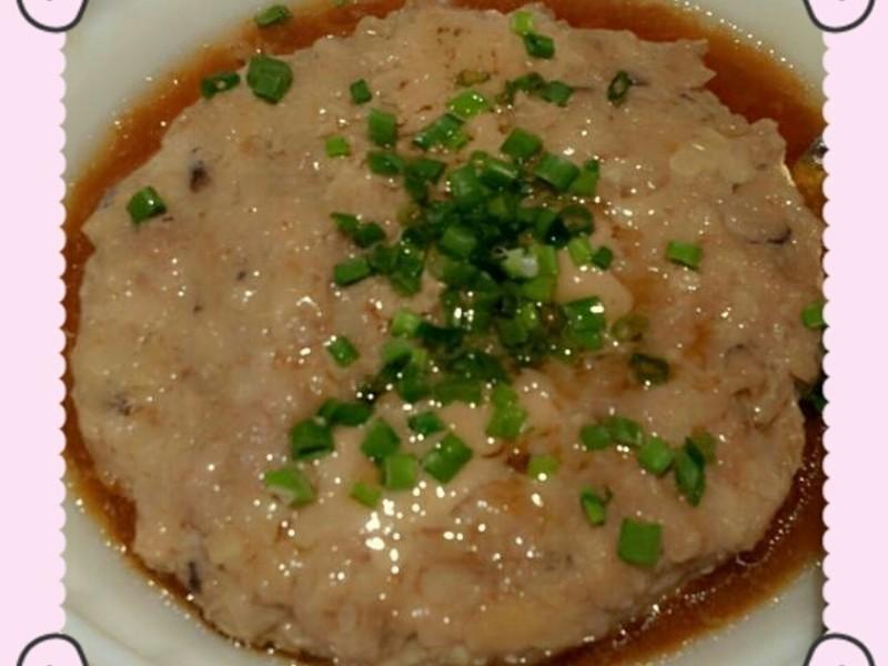 肉餅蒸鹹魚