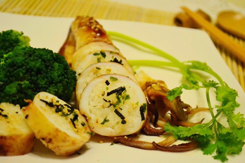 日式醬燒中卷鑲飯