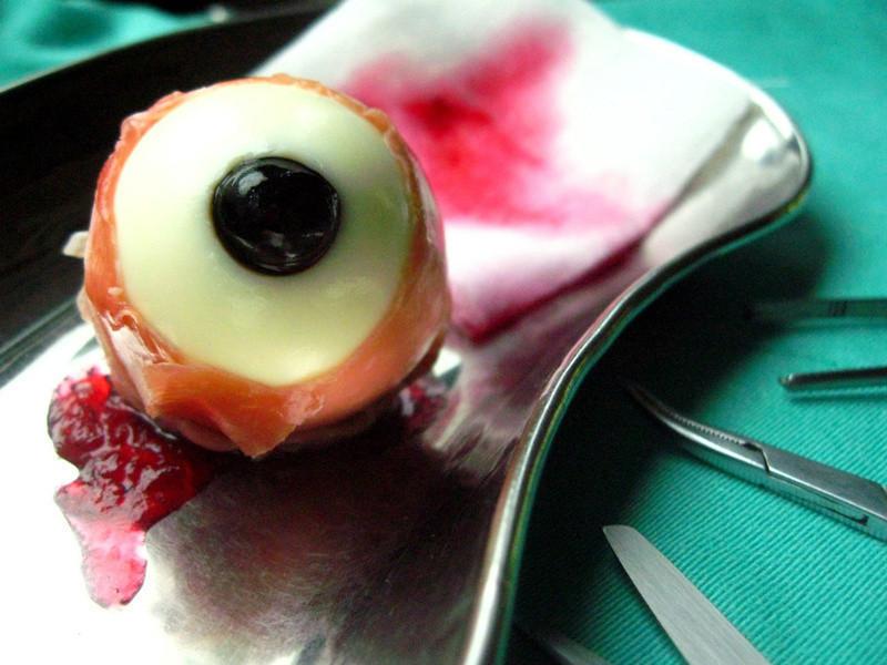 帕瑪火腿眼球蛋---萬聖節料理