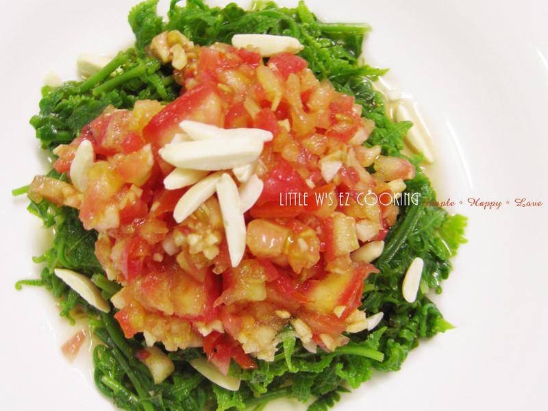 清爽低脂涼拌菜-蕃茄拌過貓