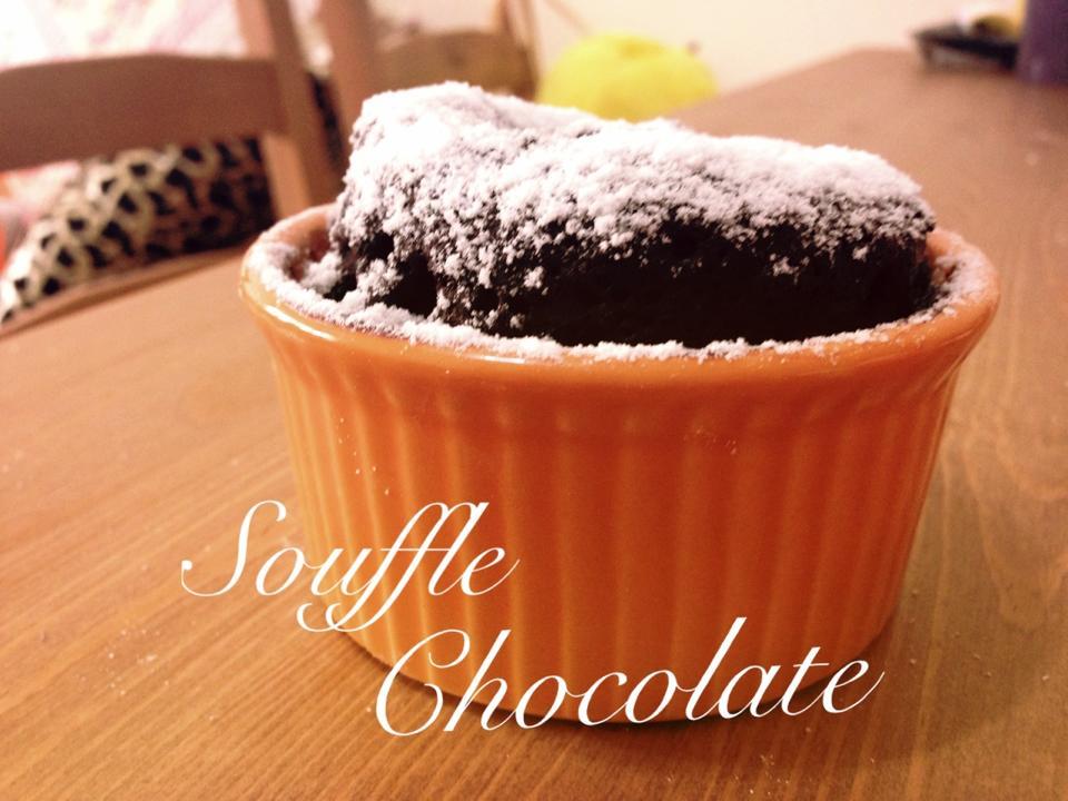 [簡易微波] 巧克力舒芙蕾 Chocolate Souffle