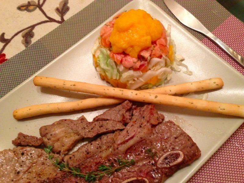 牛小排+芒果鮪魚沙拉塔【小確幸Angel⭐廚房】