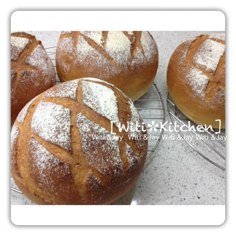 [Witi✿Kitchen]鮮奶核桃麵包