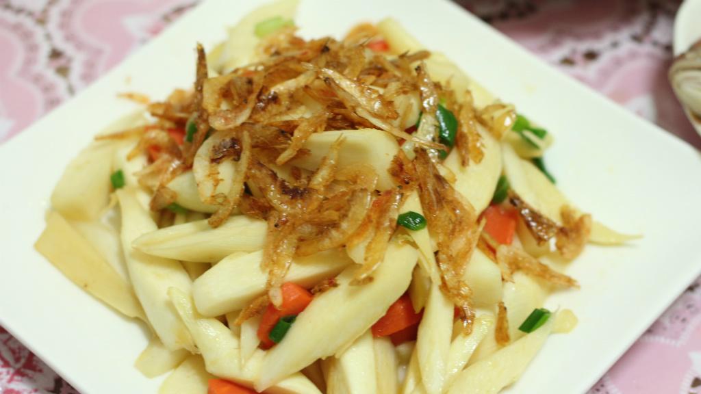櫻花蝦炒筊白筍