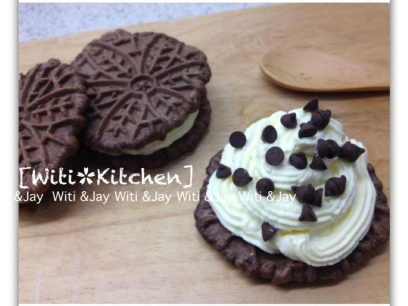 [Witi✿Kitchen]奶油夾心巧克力鬆餅