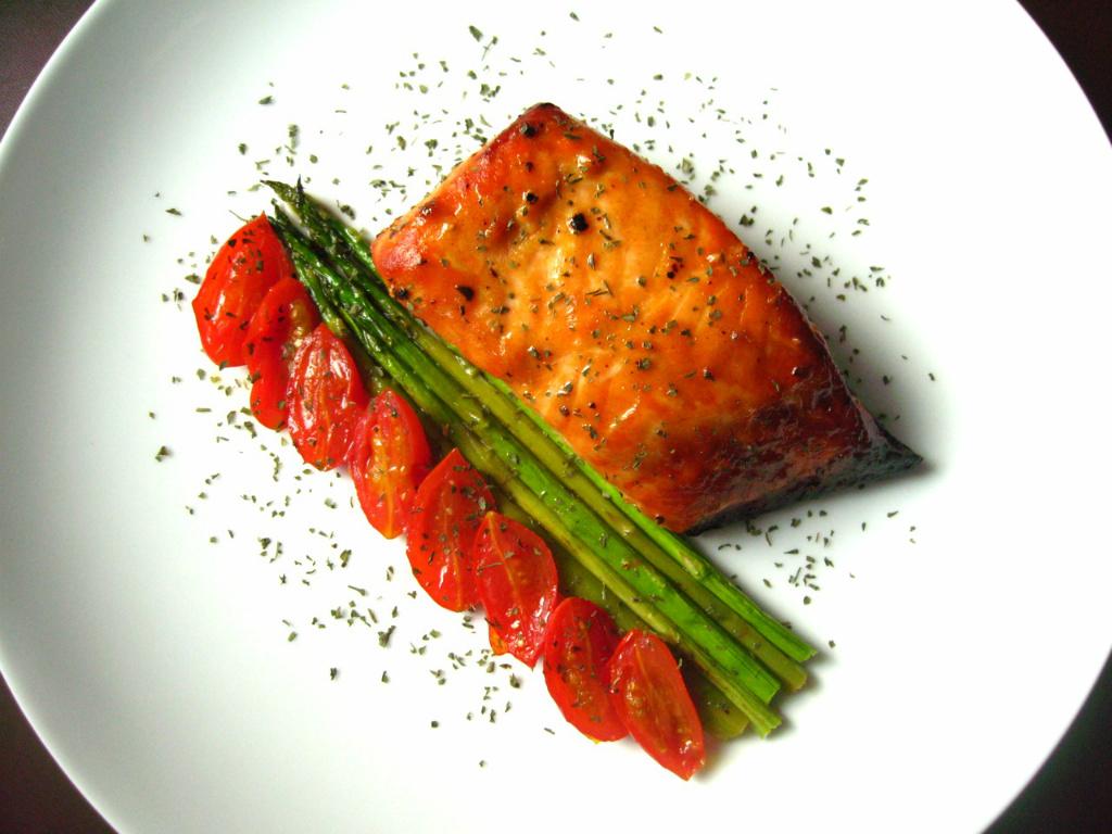 爐烤蜂蜜芥末鮭魚