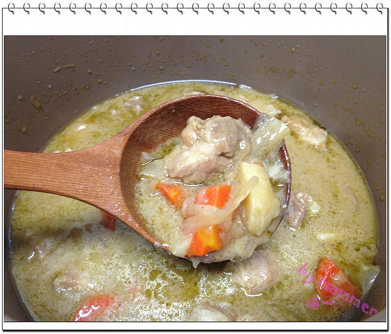[智慧萬用鍋] 泰式豬肉綠咖哩