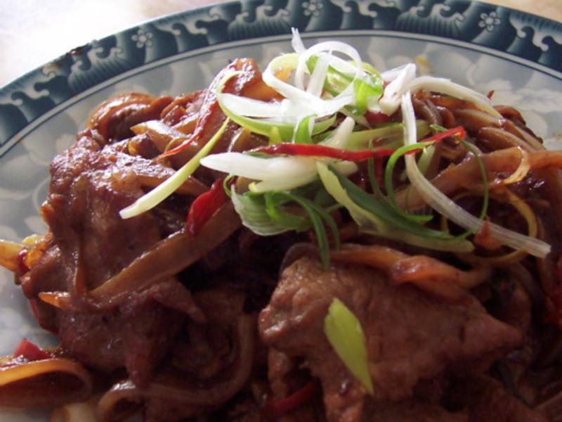 京醬豬肉片~❤