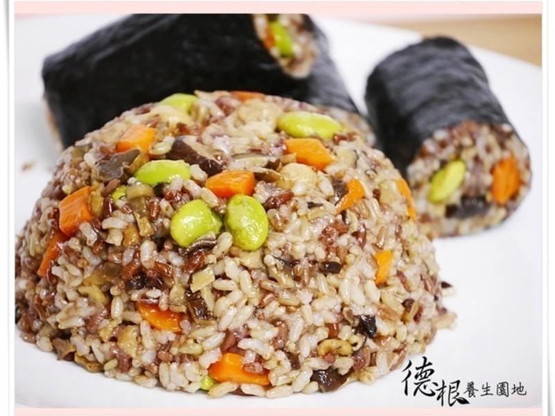 催芽紅糯米加糙米油飯