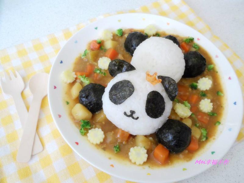 【親子食堂】貓熊..寶寶咖哩飯飯