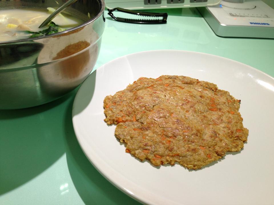 無油無粉- 燕麥煎餅(圖:鹹味紅蘿蔔燕麥煎餅)