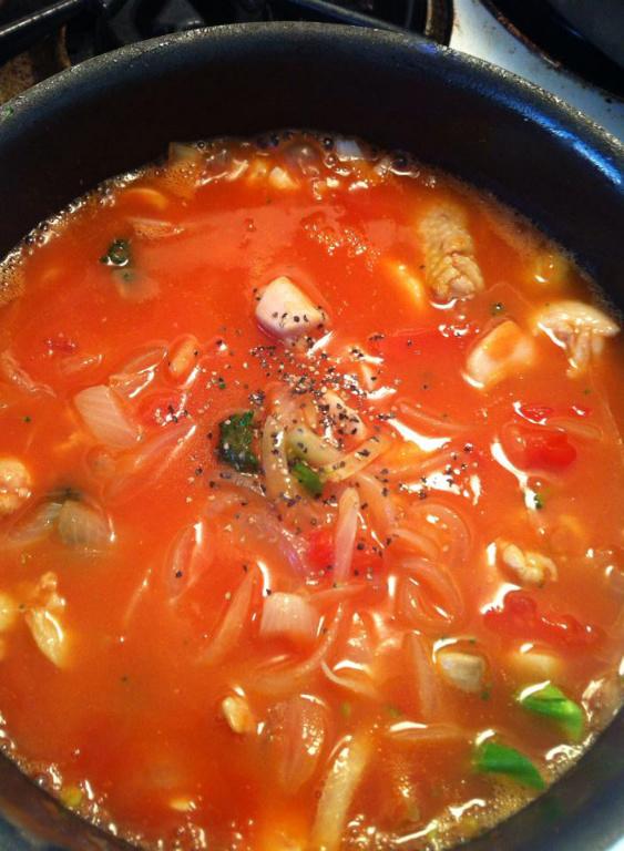 低熱量減肥食譜:健康番茄洋蔥雞肉湯