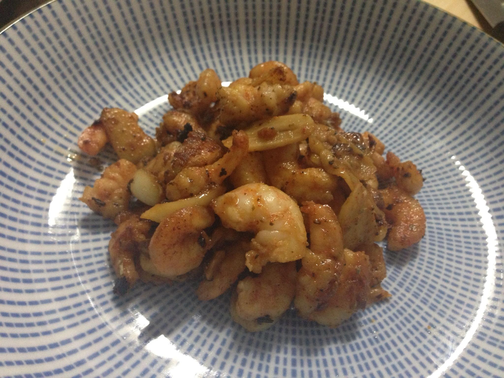 西班牙式蒜片蝦仁 (變奏版)