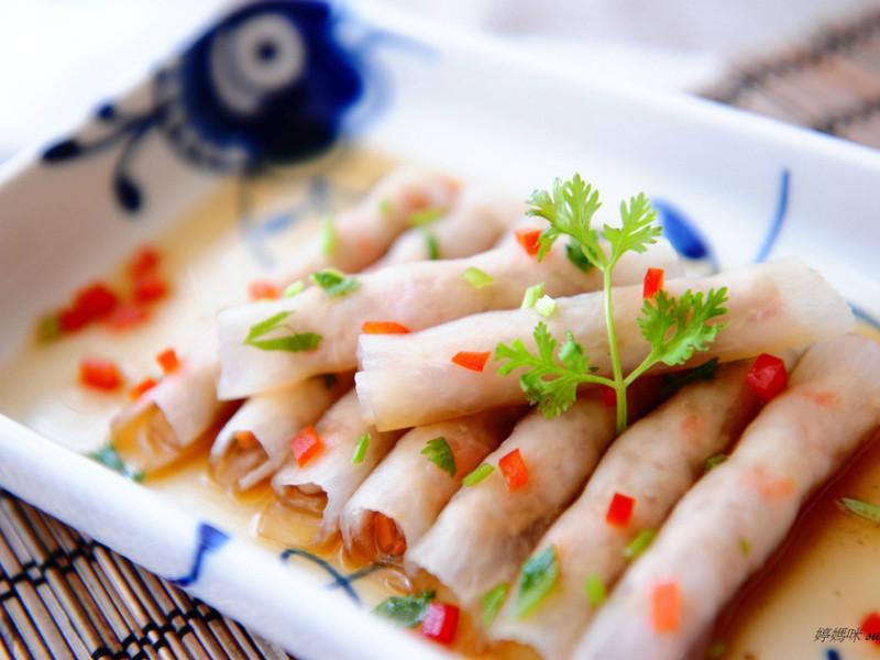 鮮蝦泥蘿蔔捲