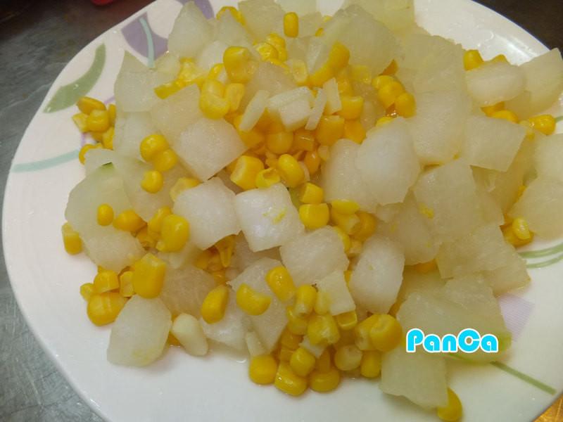 薑香冬瓜佐玉米粒【素食料理】。胖卡瘦不了食譜