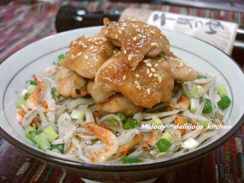 嫩煎雞肉海味拌飯