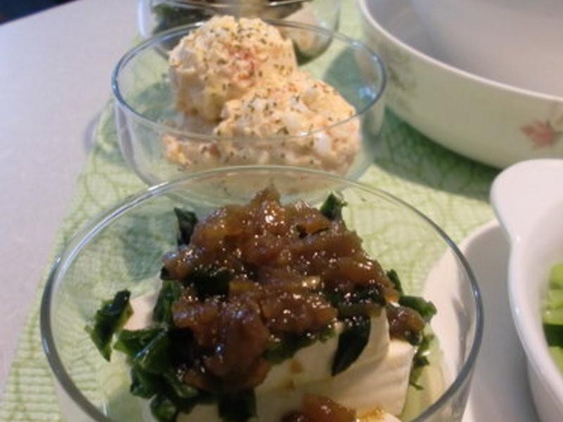 和風梅子醬佐海菜豆腐