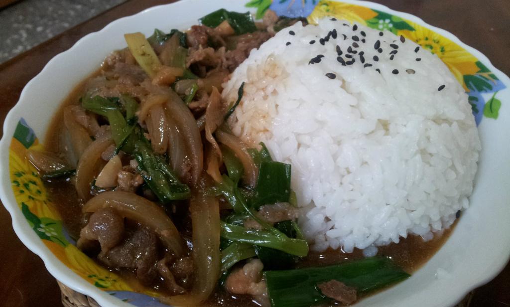 ♥ 沙茶羊肉燴飯