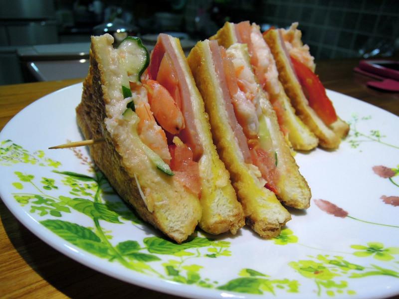 【動手作料理】安永鮮物 白蝦 鮮蝦三明治