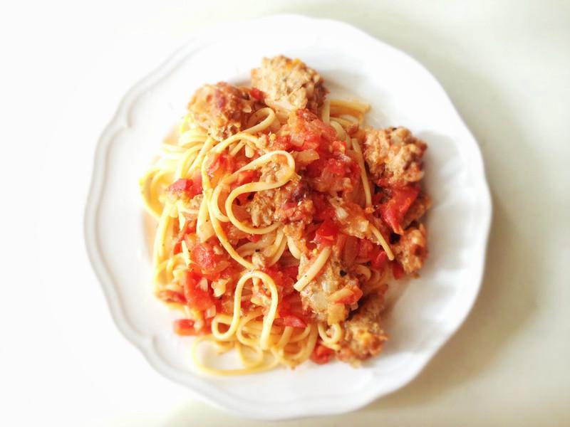 辣味蕃茄肉丸義大利麵 Spicy Marinara Meatball Pasta