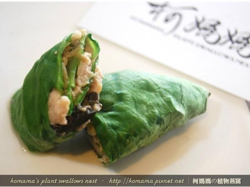 黑菇醬青江菜肉捲.柯媽媽の植物燕窩
