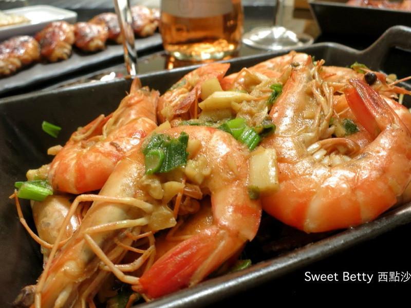 下酒菜~椒鹽蔥爆蝦