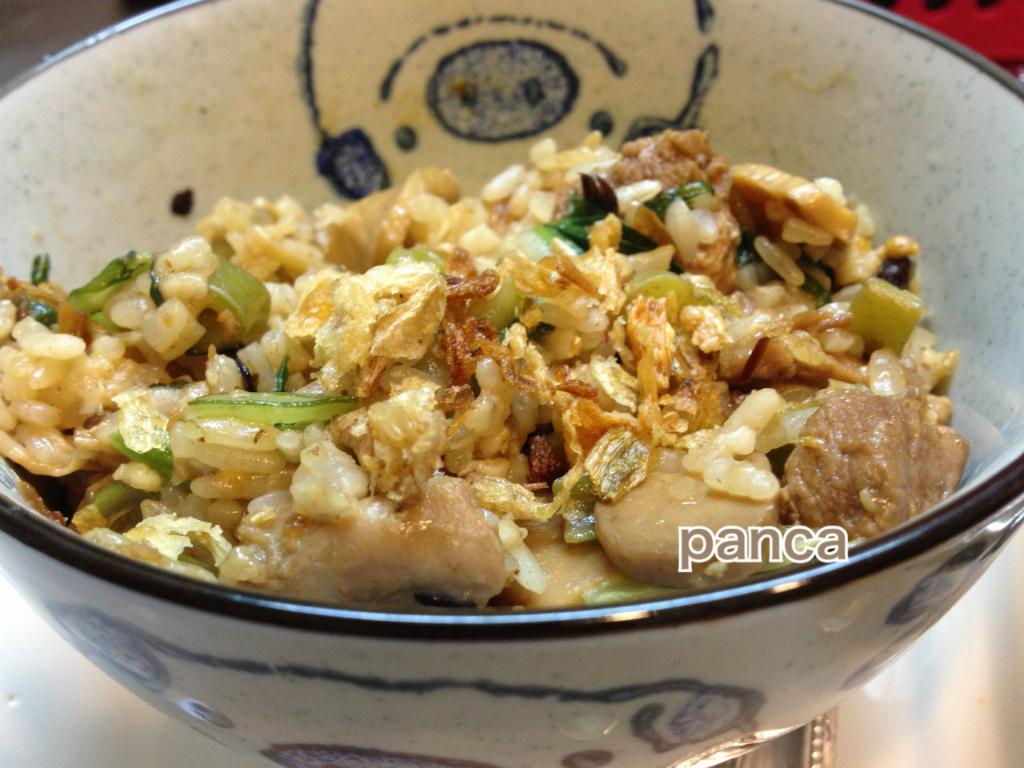 薑麻油雞蓉炒飯【便當料理】。胖卡瘦不了食譜