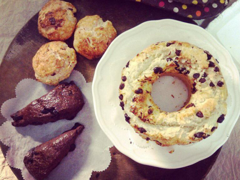 |日日點心|黃金三角 司康大全 燕麥藍莓 可可巧克力 香蕉巧克力 司康!