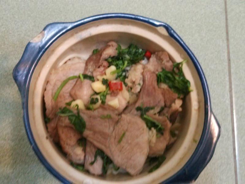 香辣炒豬肉片