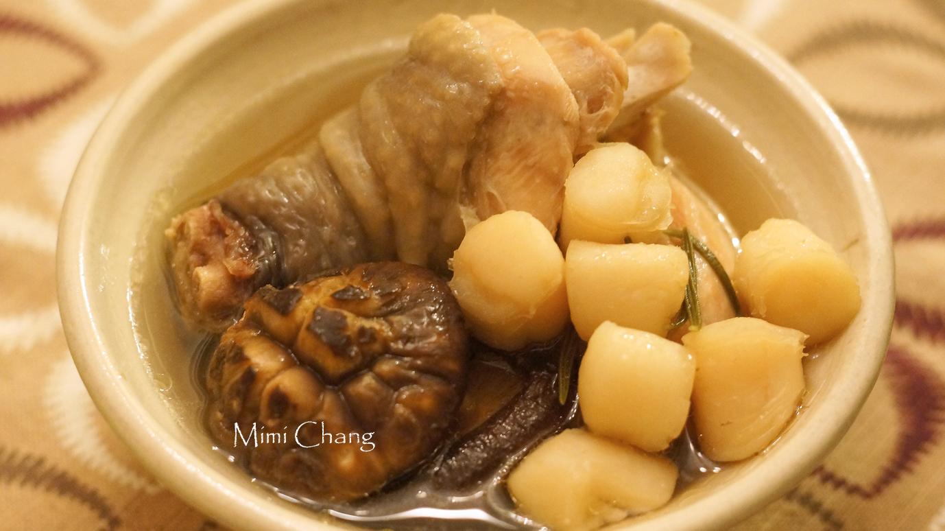 Mimi♥迷迭香干貝香菇雞湯(電鍋料理)