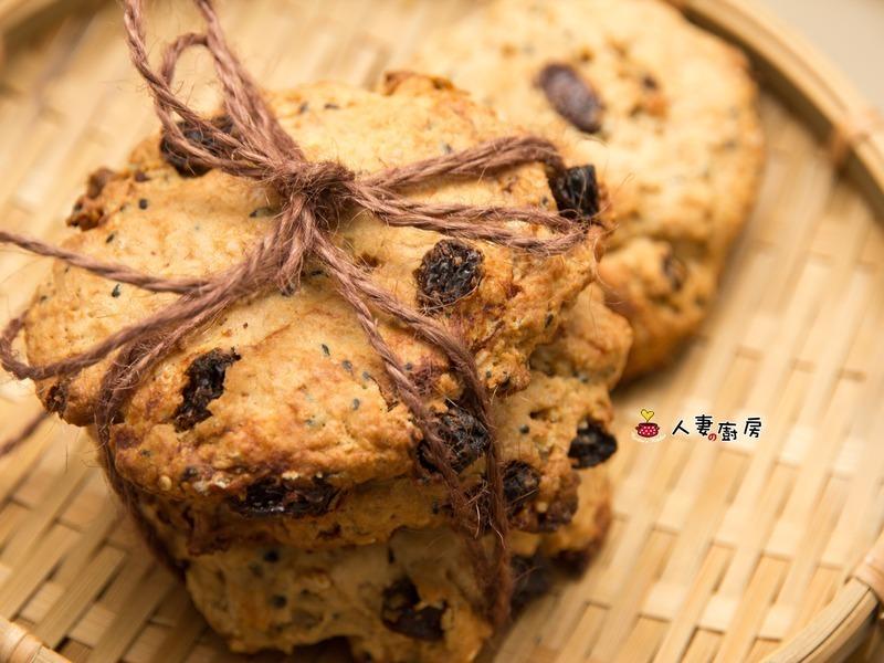 人妻的廚房--黑糖燕麥芝麻餅乾
