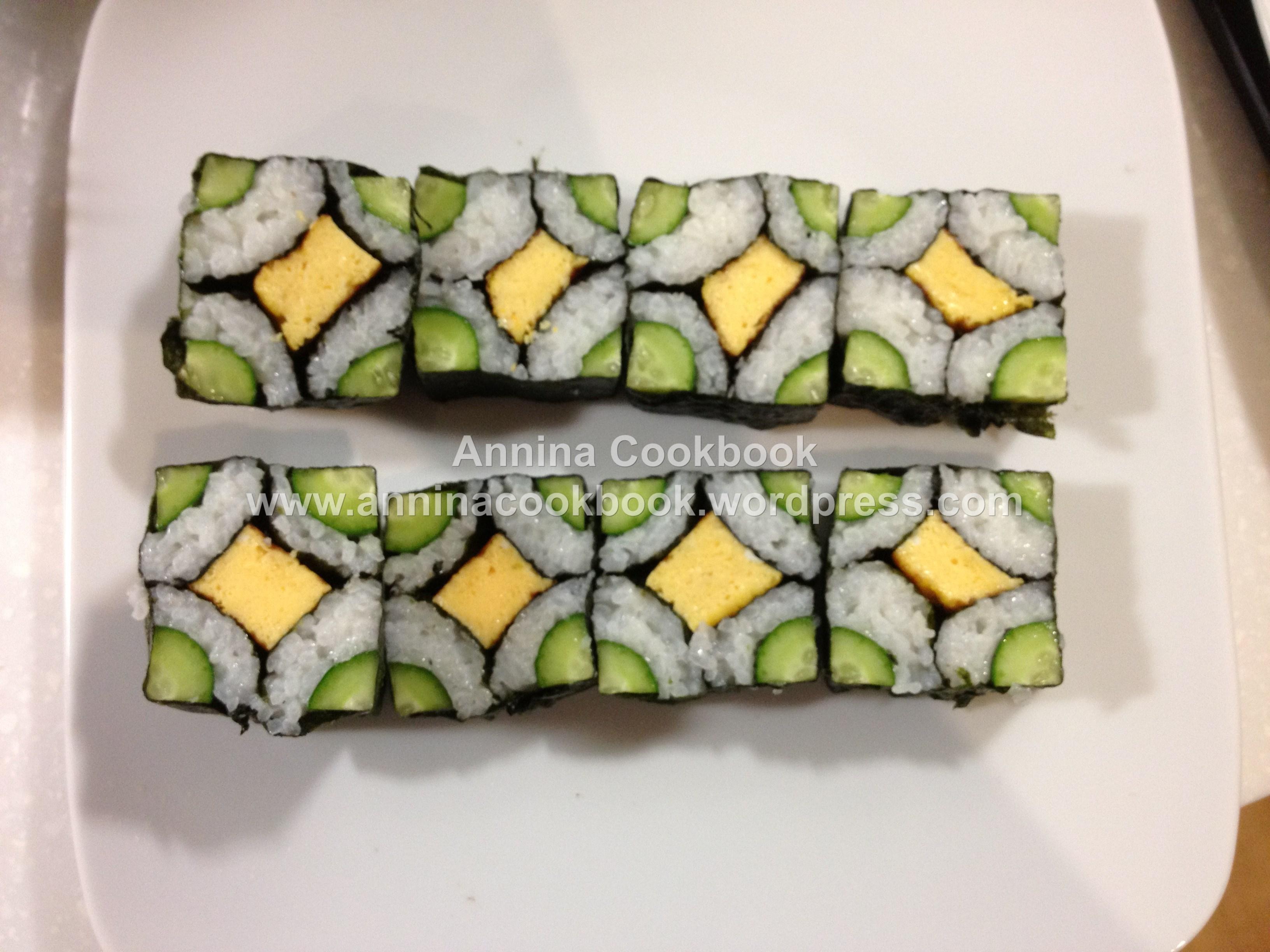 美麗花壽司捲