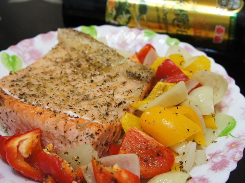 『泰山橄欖油』~烤時蔬鮭魚