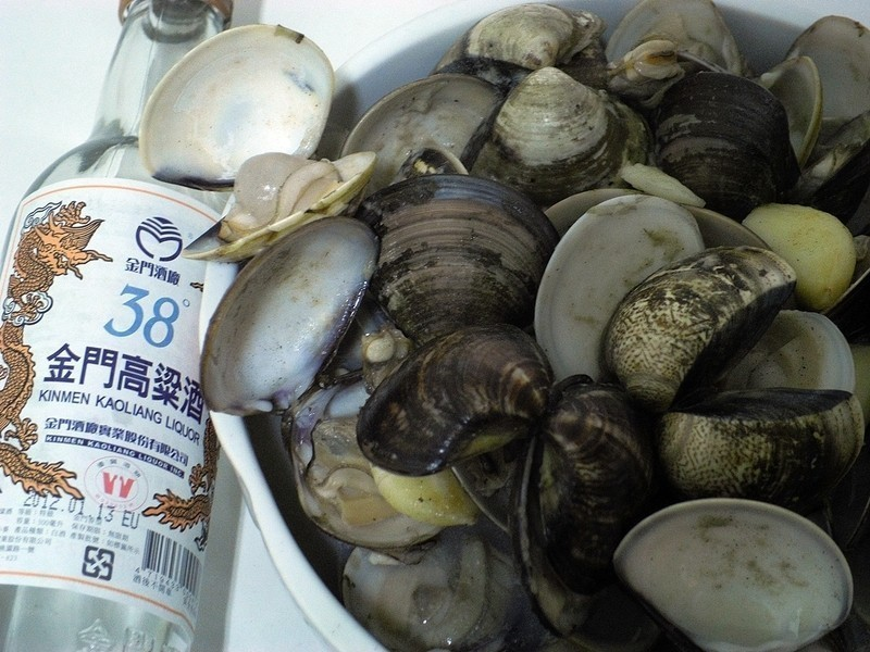 金門高粱飄香料理-麻油高梁酒炒蛤蜊