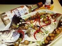 破布子蒸鱸魚--【金門高粱飄香料理】