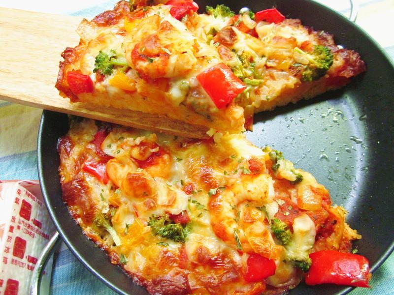 小鐵鍋焗烤米pizza「臺東農產好料理」