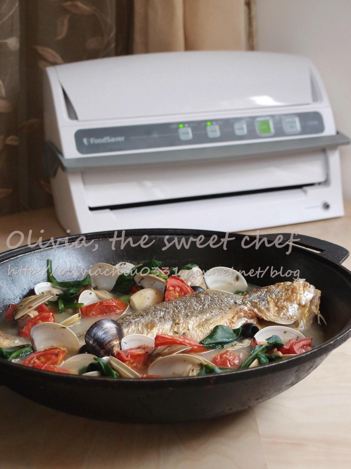 Olivia♥白酒煨海鮮鱸魚