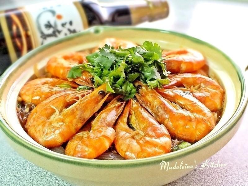 鮮蝦粉絲煲~時間淬釀的甘露之味