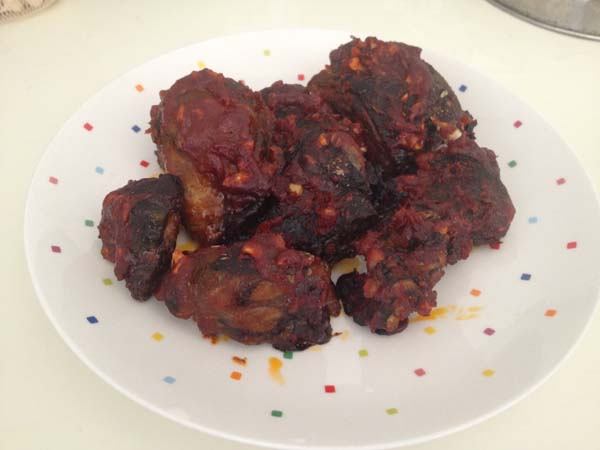 無油韓式炸雞(烤箱料裡)